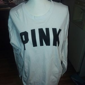 Vs pink campus tee with roses
